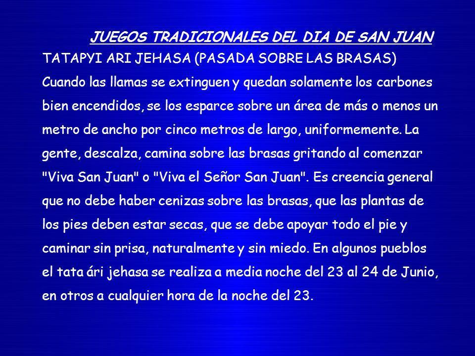 JUEGOS TRADICIONALES DEL DIA DE SAN JUAN