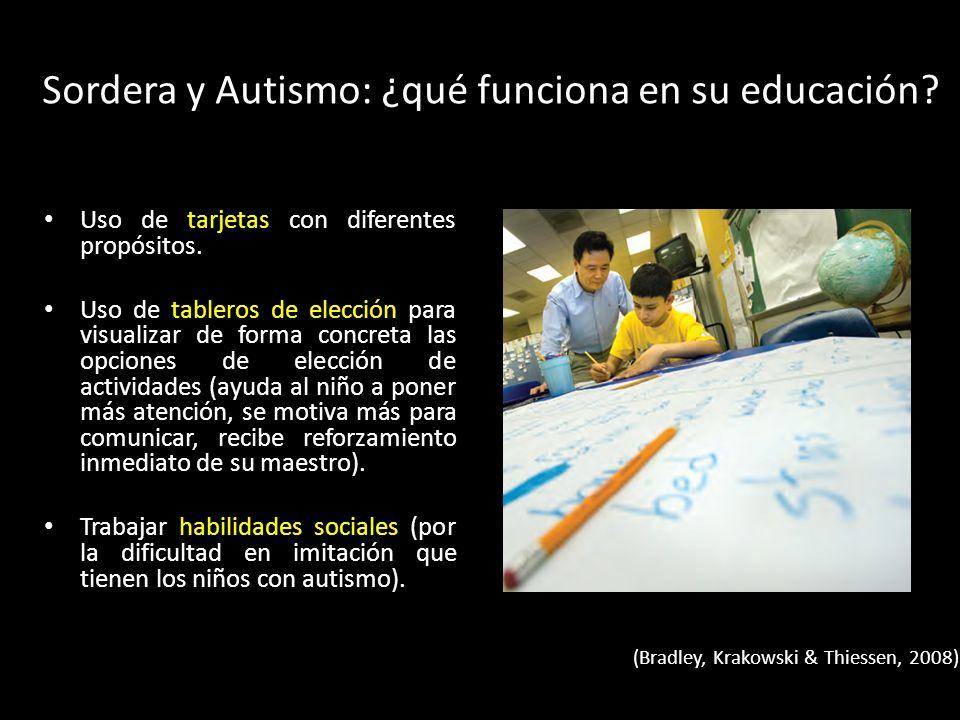 Sordera y Autismo: ¿qué funciona en su educación