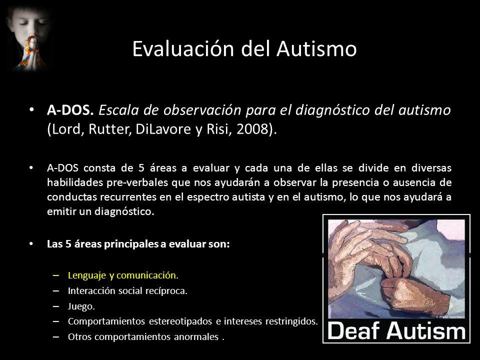 Evaluación del Autismo