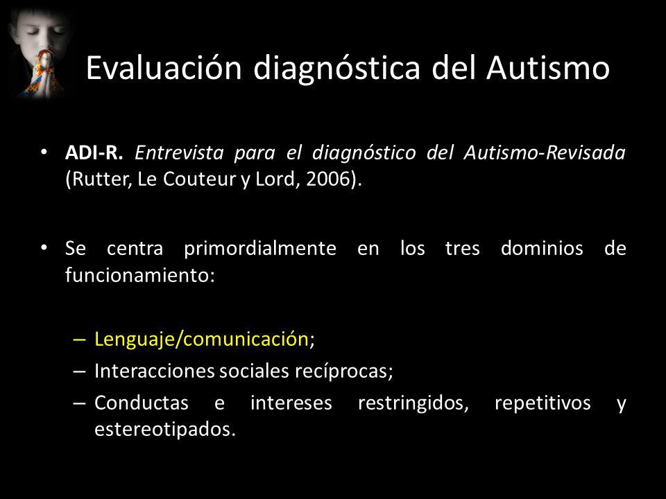 Evaluación diagnóstica del Autismo