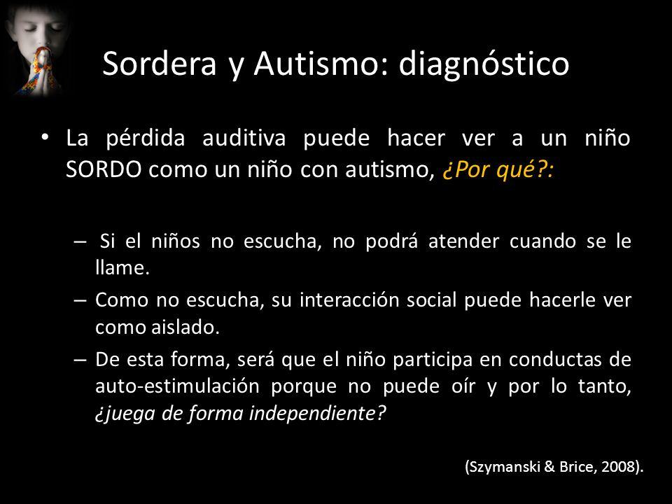 Sordera y Autismo: diagnóstico