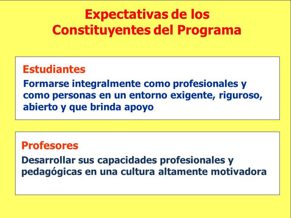 Expectativas de los Constituyentes del Programa