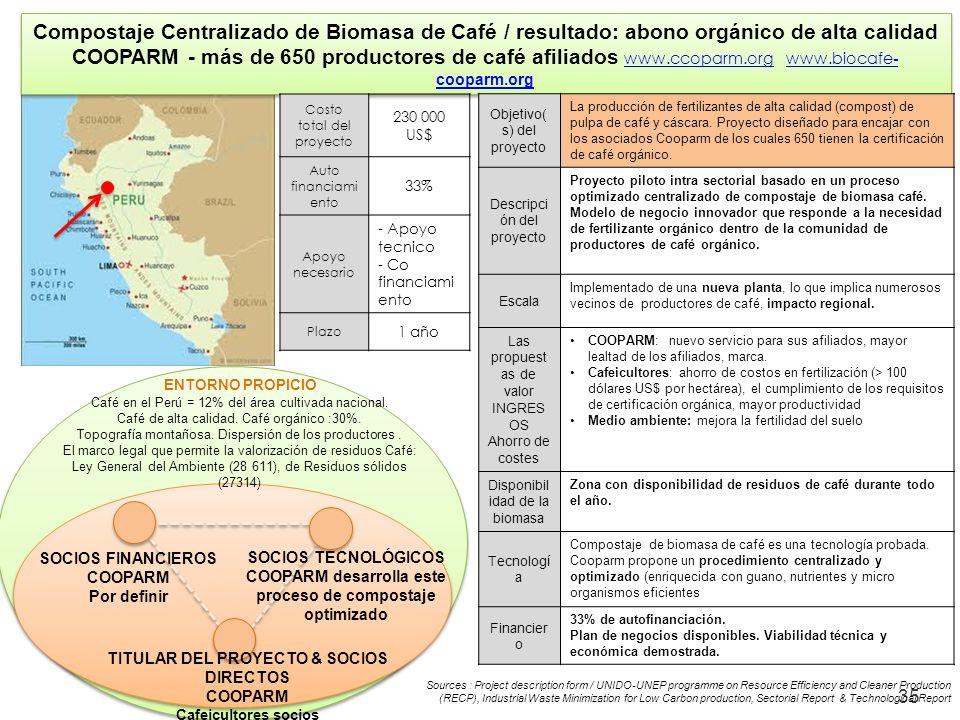 Compostaje Centralizado de Biomasa de Café / resultado: abono orgánico de alta calidad