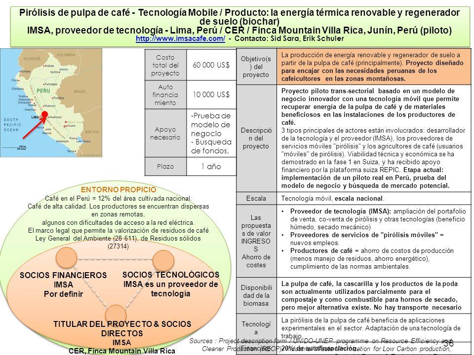 Pirólisis de pulpa de café - Tecnología Mobile / Producto: la energía térmica renovable y regenerador de suelo (biochar)