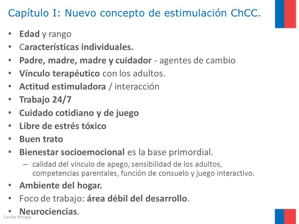Capítulo I: Nuevo concepto de estimulación ChCC.