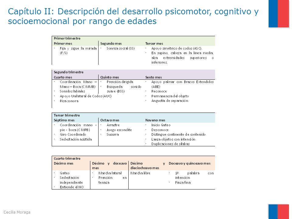 Capítulo II: Descripción del desarrollo psicomotor, cognitivo y socioemocional por rango de edades