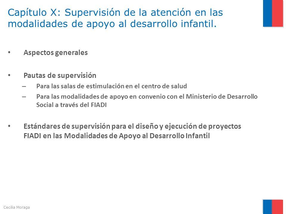 Capítulo X: Supervisión de la atención en las modalidades de apoyo al desarrollo infantil.