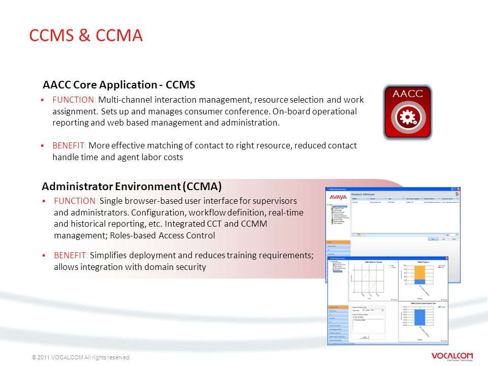 CCMS & CCMA AACC Core Application - CCMS
