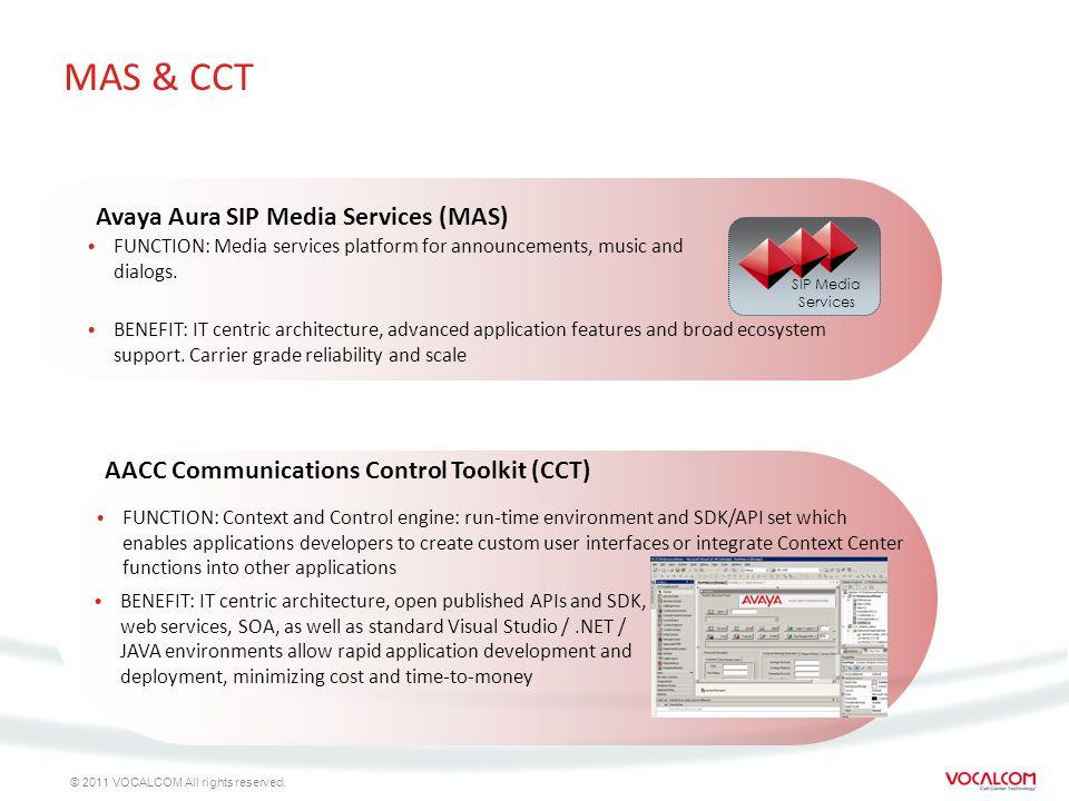 MAS & CCT Avaya Aura SIP Media Services (MAS)
