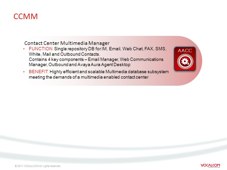 CCMM Contact Center Multimedia Manager