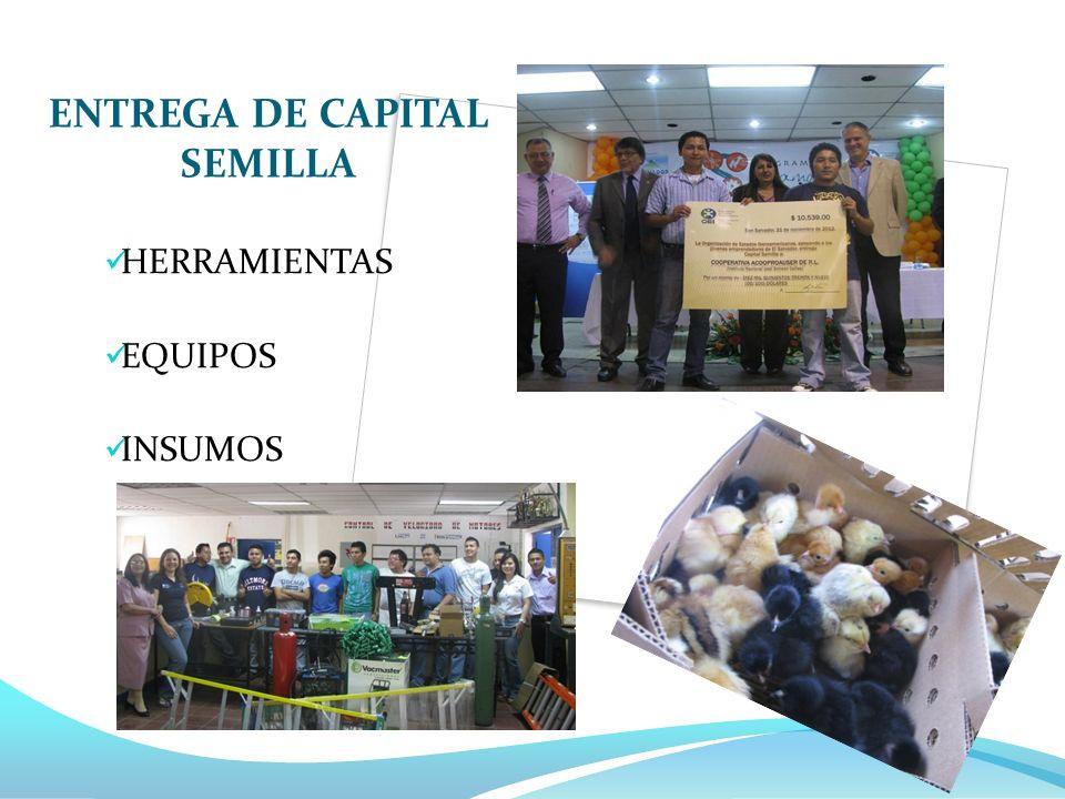 ENTREGA DE CAPITAL SEMILLA