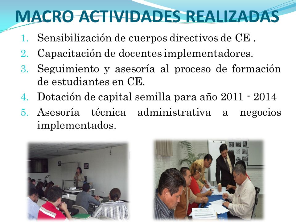 MACRO ACTIVIDADES REALIZADAS