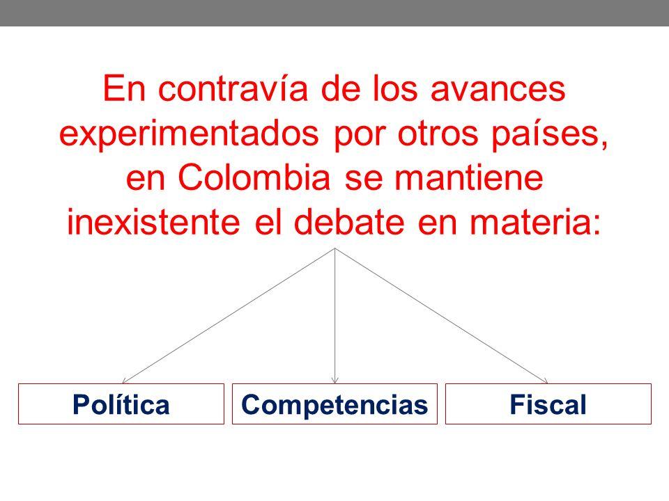 En contravía de los avances experimentados por otros países, en Colombia se mantiene inexistente el debate en materia: