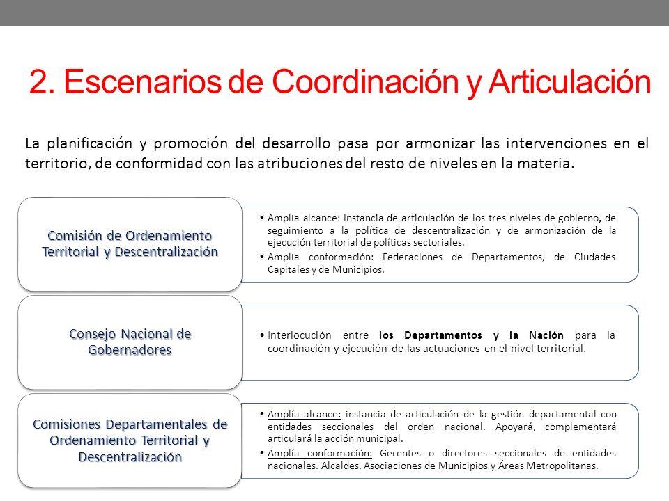 2. Escenarios de Coordinación y Articulación