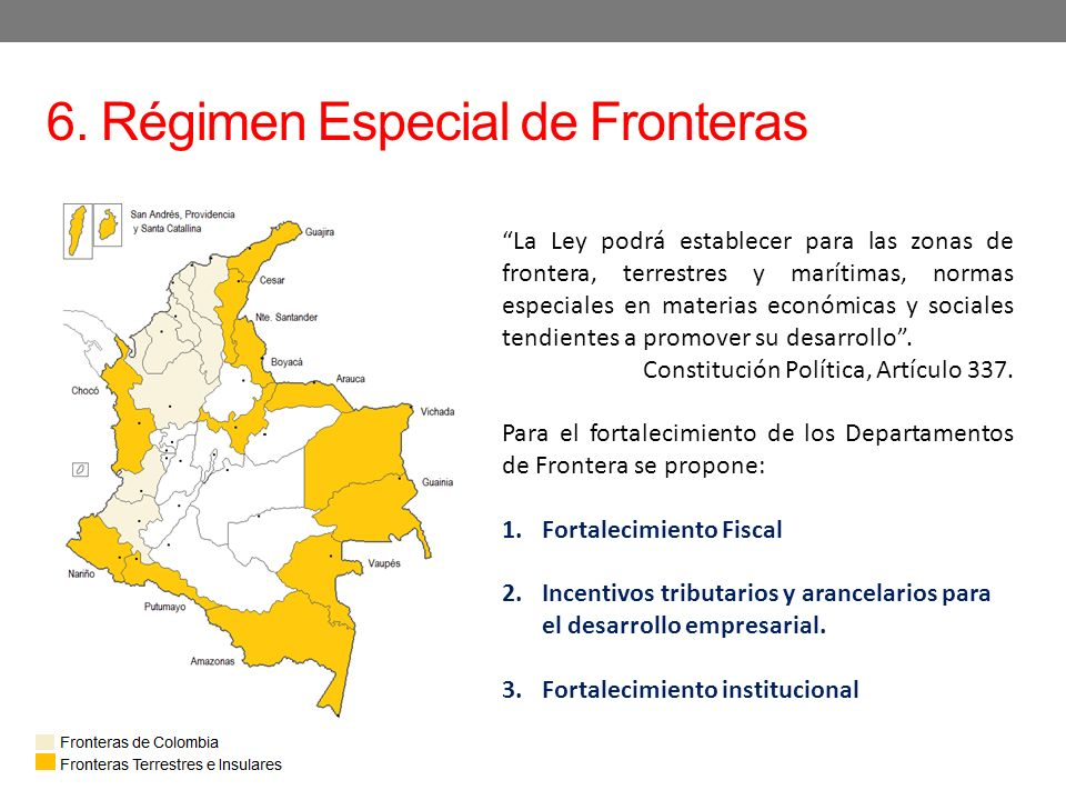 6. Régimen Especial de Fronteras