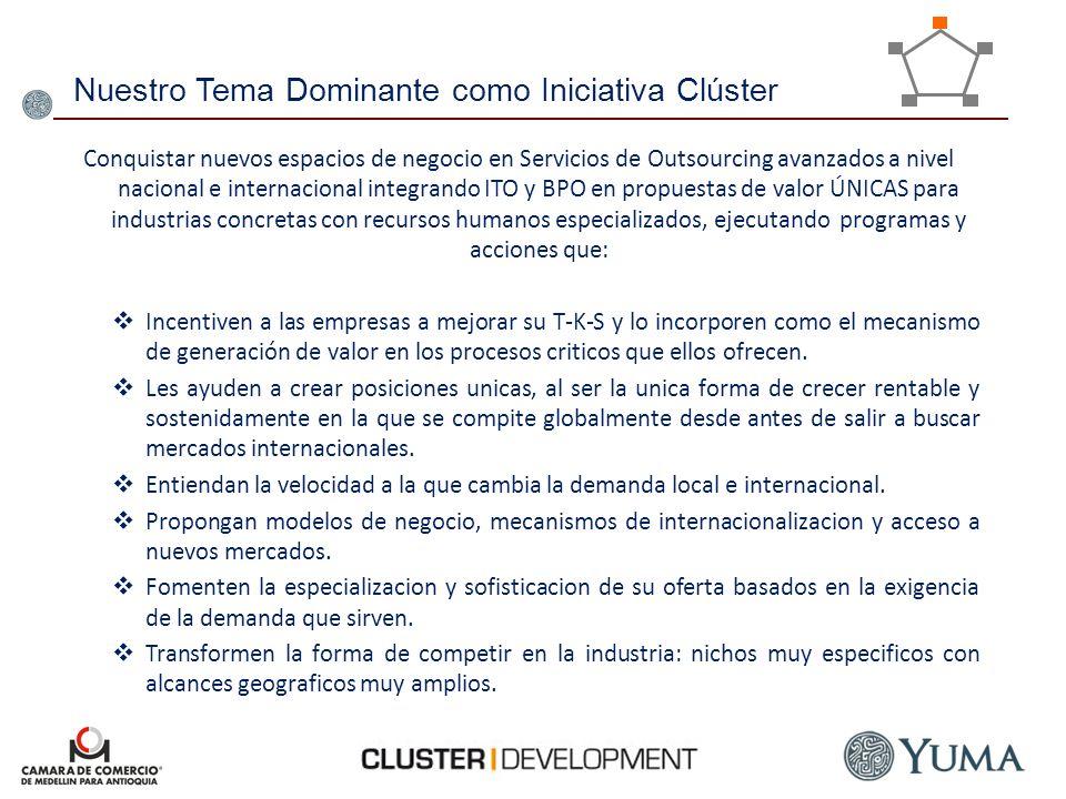 Nuestro Tema Dominante como Iniciativa Clúster