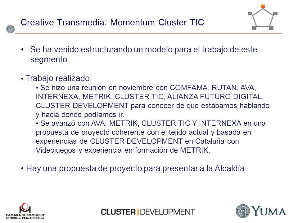 Creative Transmedia: Momentum Cluster TIC
