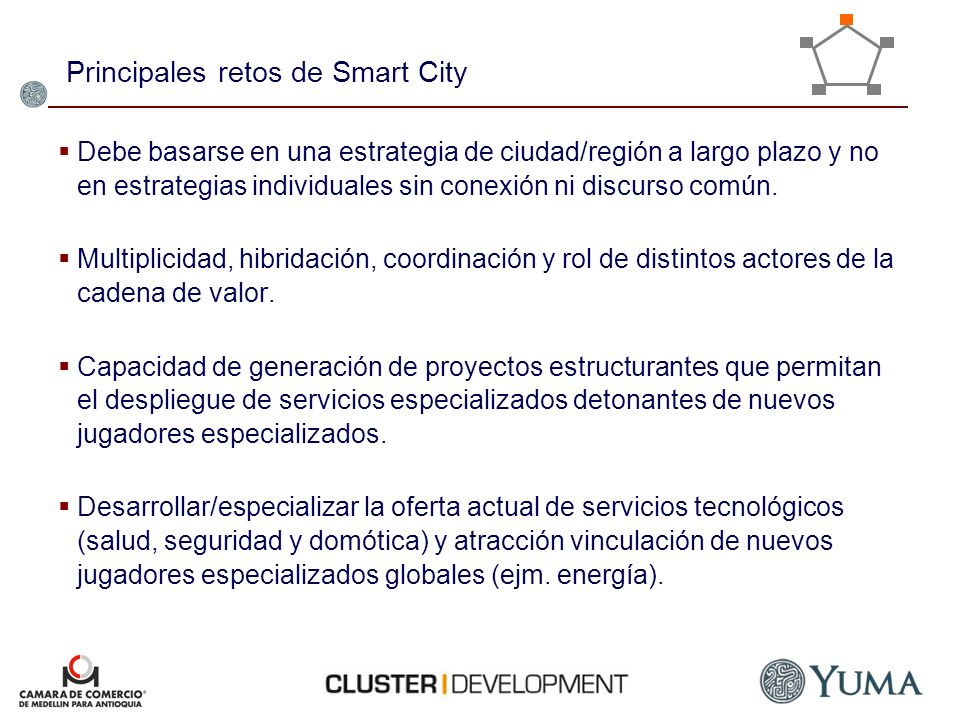 Principales retos de Smart City