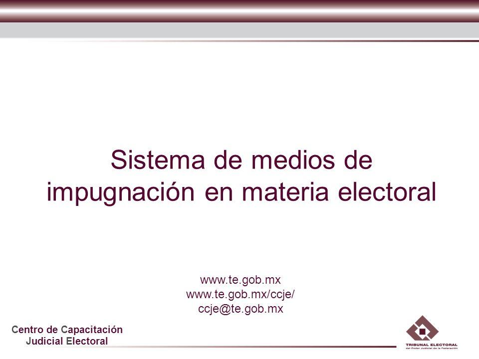 Sistema de medios de impugnación en materia electoral