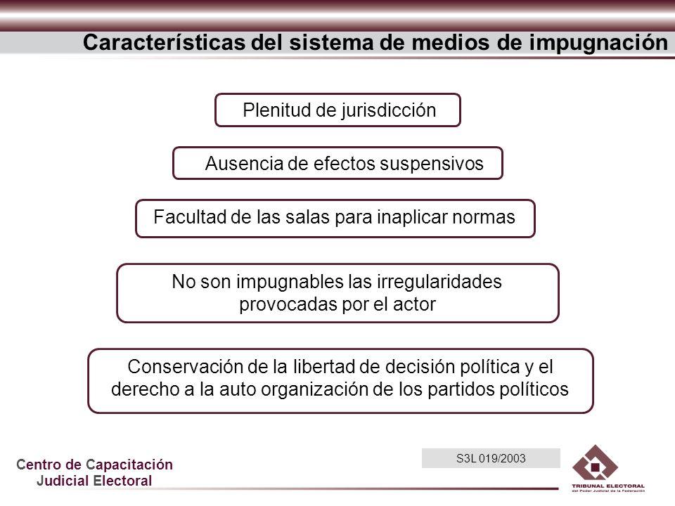 Características del sistema de medios de impugnación
