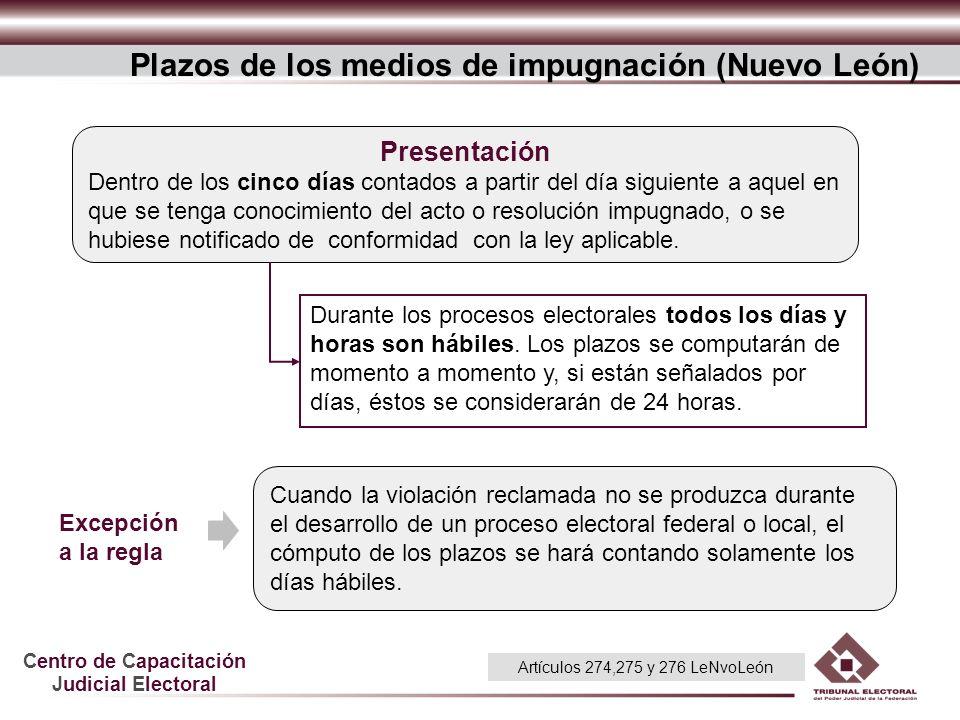Plazos de los medios de impugnación (Nuevo León)