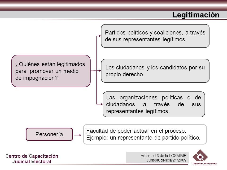 Legitimación Partidos políticos y coaliciones, a través de sus representantes legítimos.