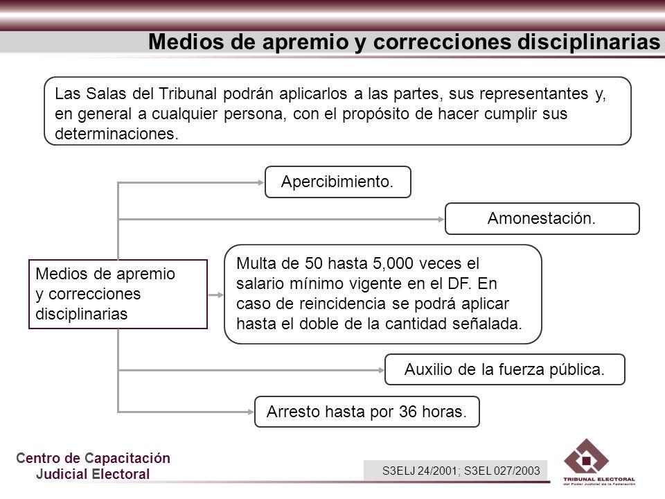Medios de apremio y correcciones disciplinarias