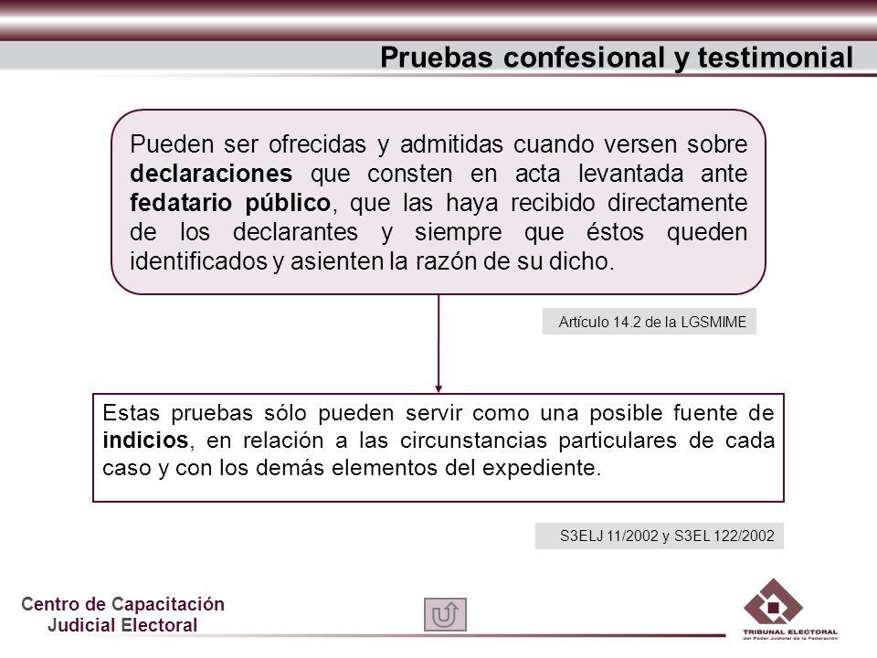 Pruebas confesional y testimonial