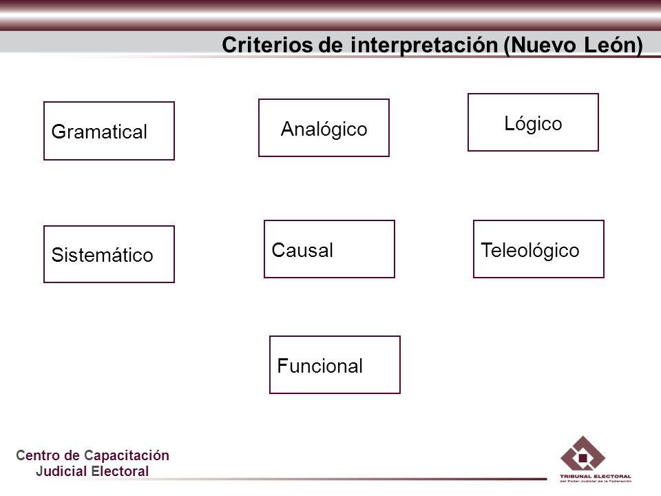 Criterios de interpretación (Nuevo León)