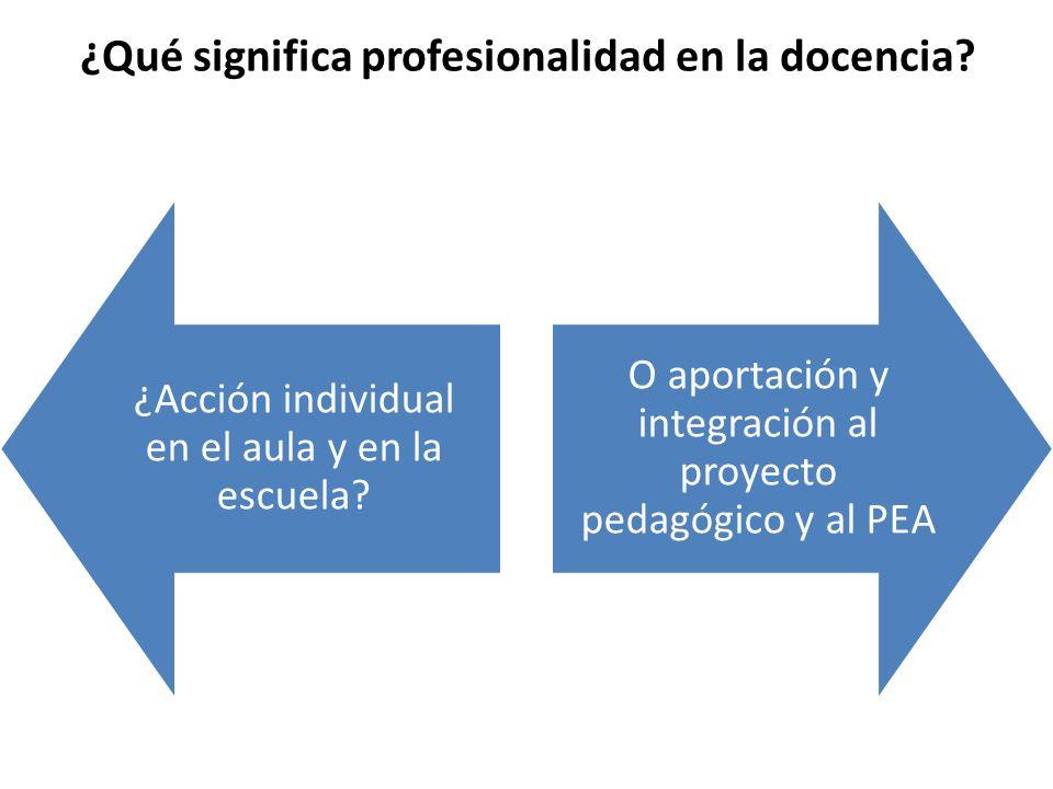 ¿Qué significa profesionalidad en la docencia