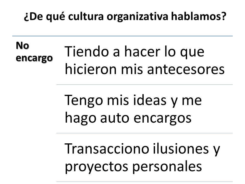 ¿De qué cultura organizativa hablamos