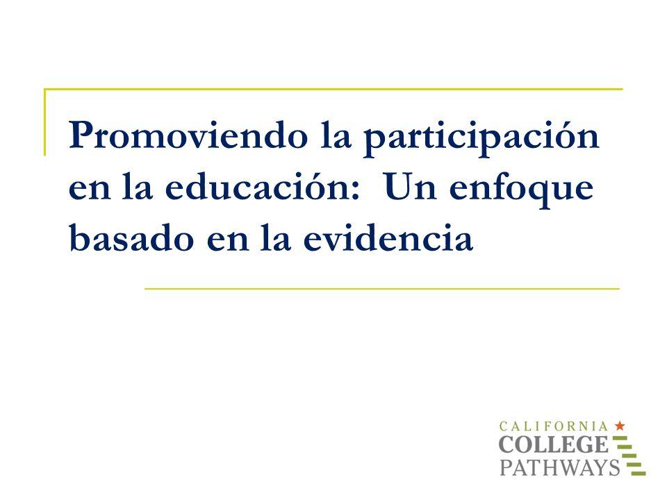 Promoviendo la participación en la educación: Un enfoque basado en la evidencia