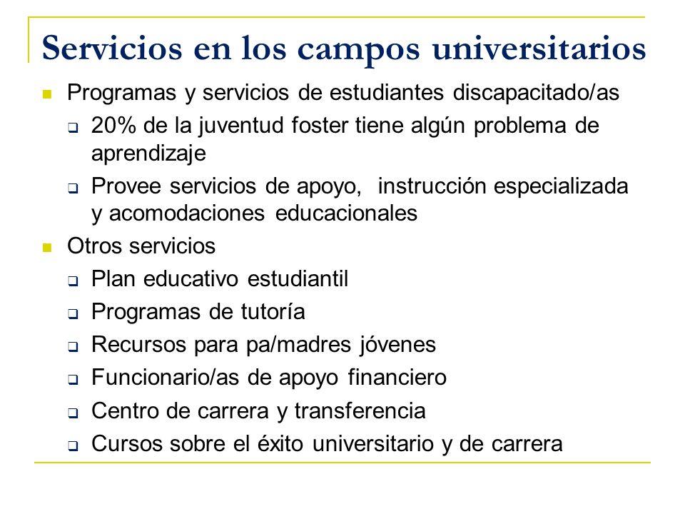 Servicios en los campos universitarios