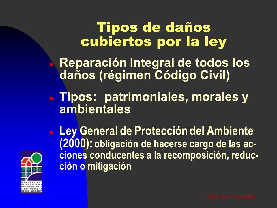 Tipos de daños cubiertos por la ley