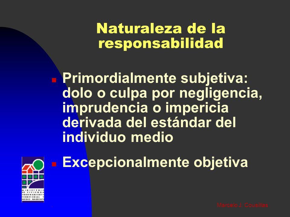 Naturaleza de la responsabilidad