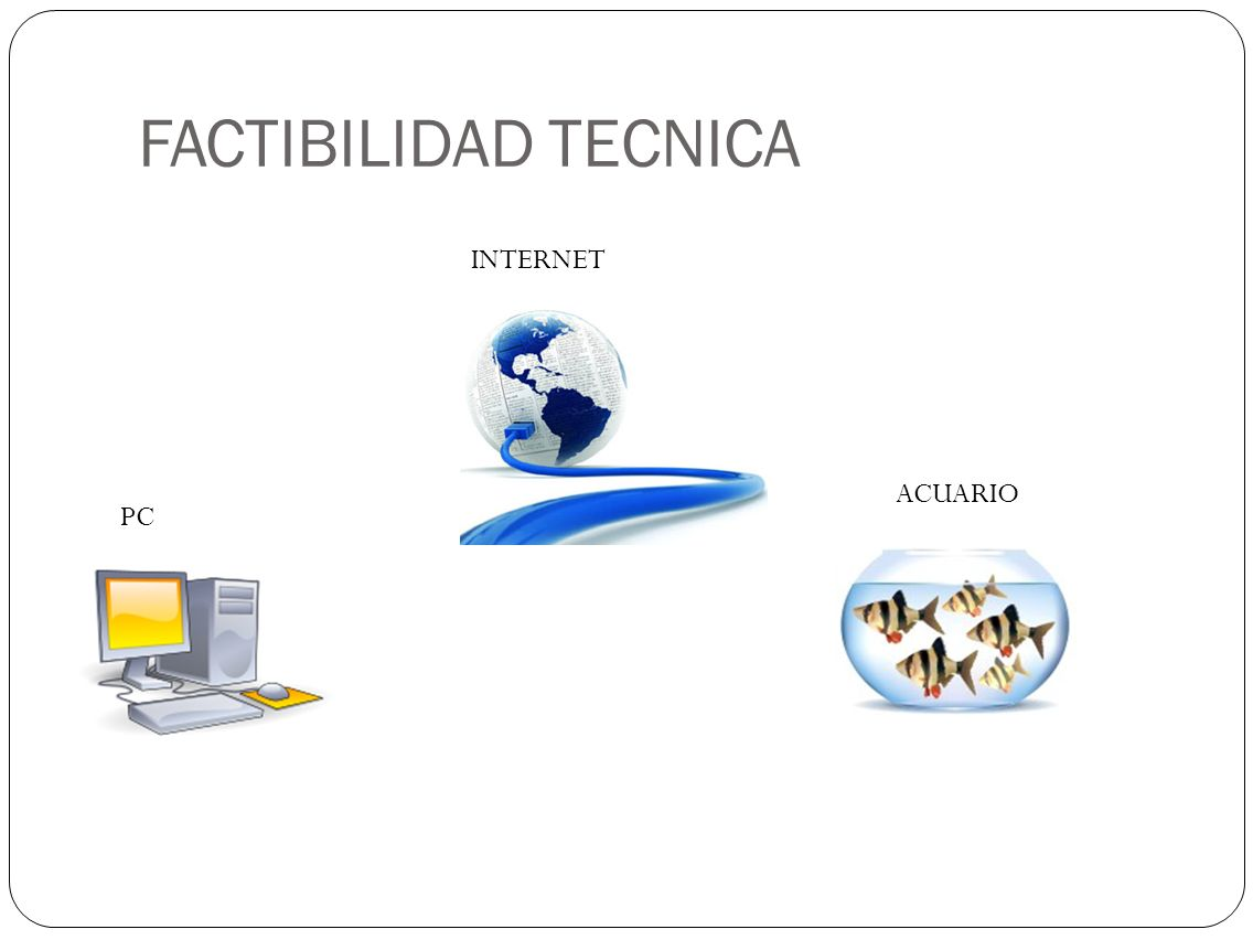 FACTIBILIDAD TECNICA INTERNET ACUARIO PC