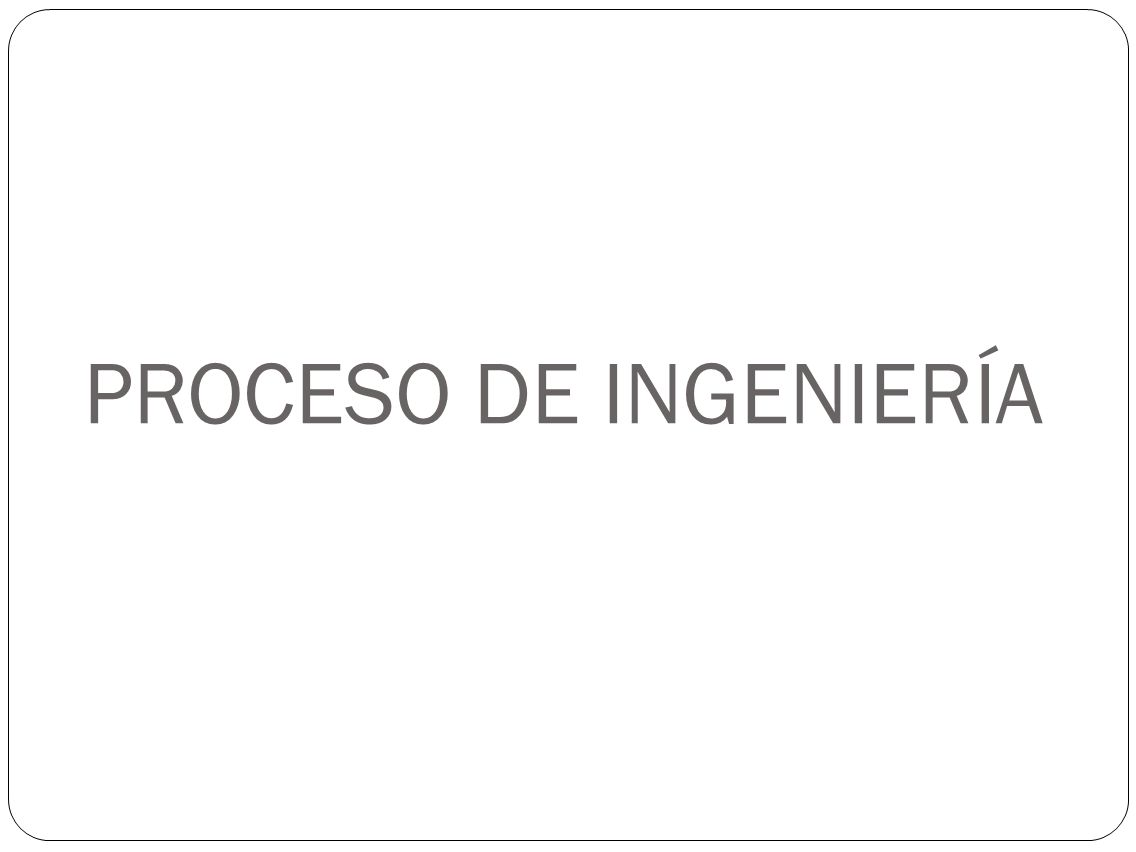 PROCESO DE INGENIERÍA