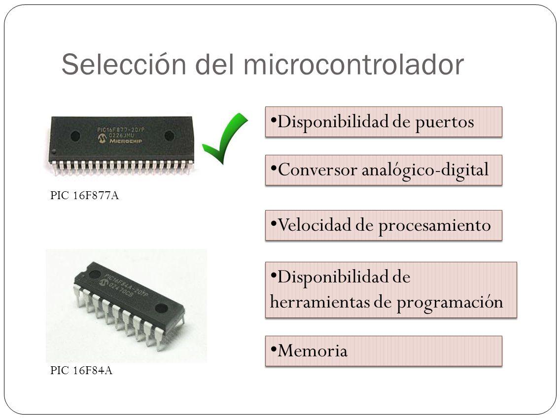Selección del microcontrolador
