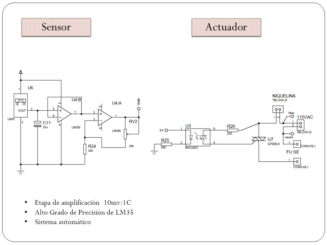 Sensor Actuador Etapa de amplificación 10mv:1C