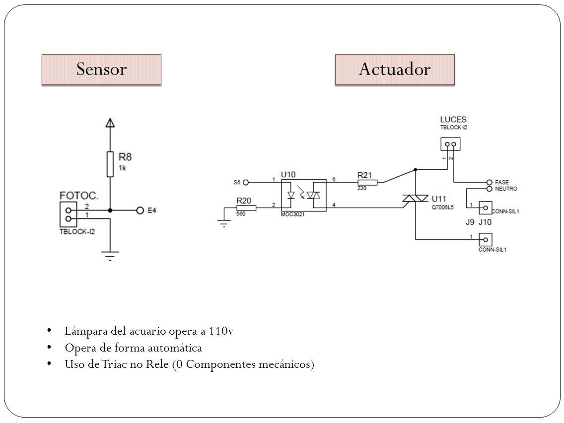 Sensor Actuador Lámpara del acuario opera a 110v