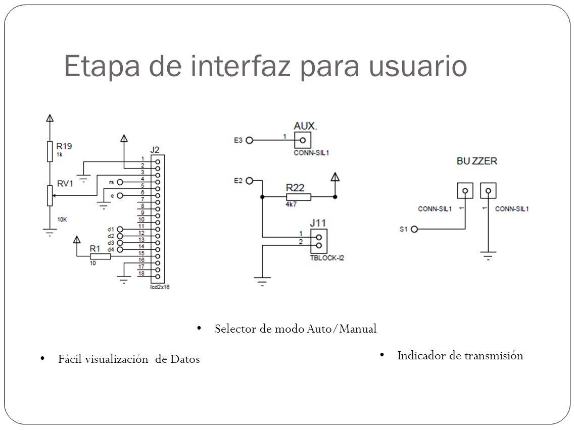 Etapa de interfaz para usuario