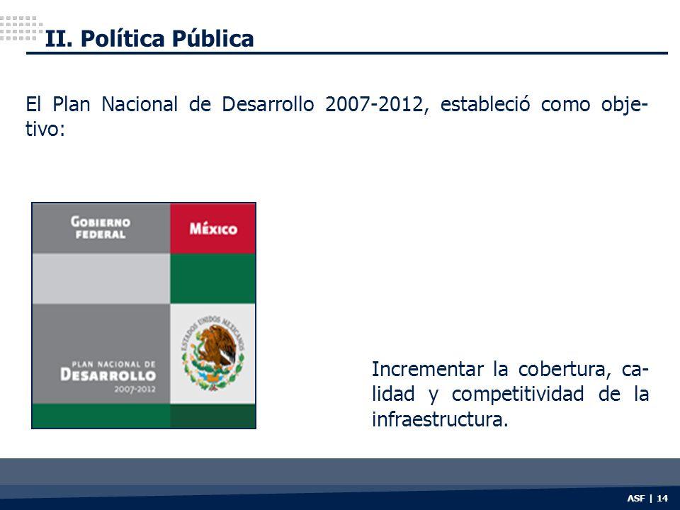 II. Política Pública El Plan Nacional de Desarrollo 2007-2012, estableció como obje-tivo: