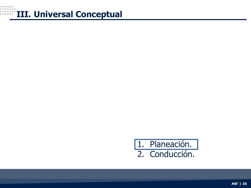 III. Universal Conceptual