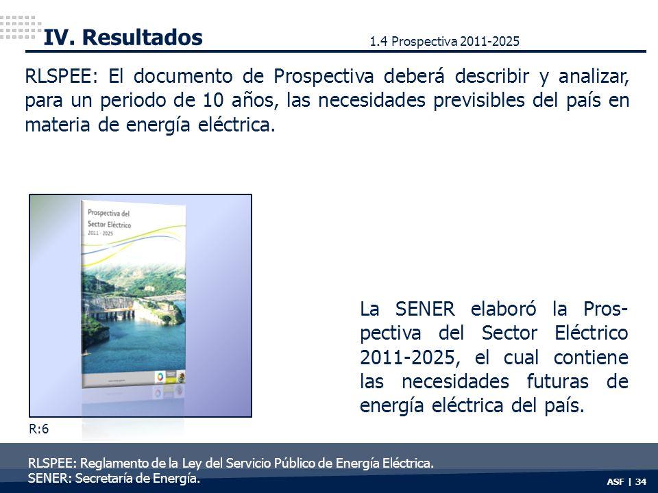 IV. Resultados 1.4 Prospectiva 2011-2025.