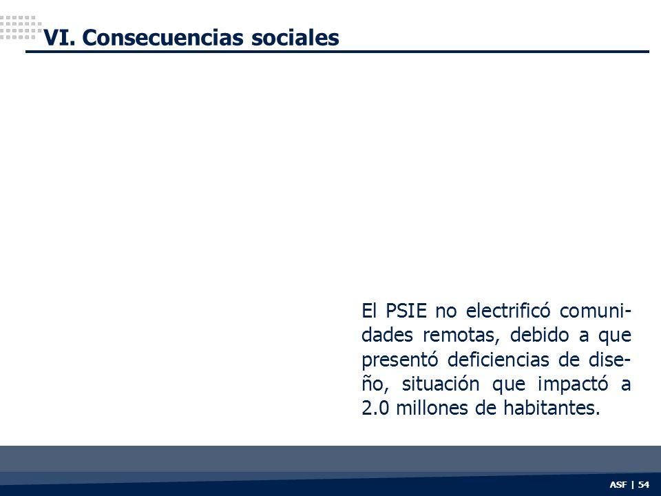 VI. Consecuencias sociales
