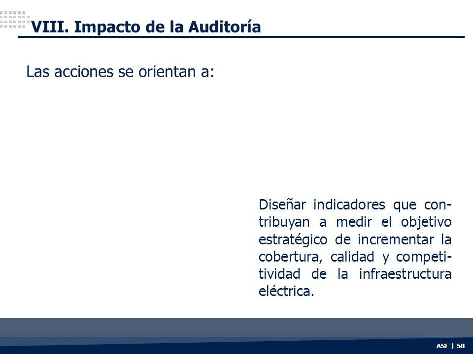 VIII. Impacto de la Auditoría