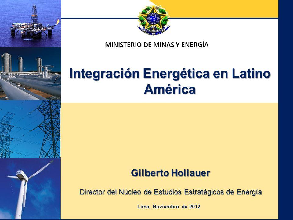 MINISTERIO DE MINAS Y ENERGÍA Integración Energética en Latino América