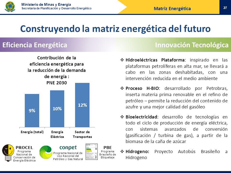 Construyendo la matriz energética del futuro