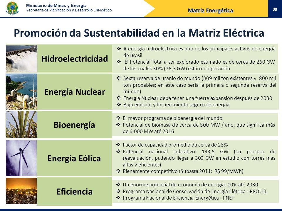 Promoción da Sustentabilidad en la Matriz Eléctrica