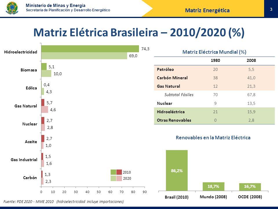 Matriz Elétrica Brasileira – 2010/2020 (%)